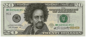 Mac Dre, pencil on US currency